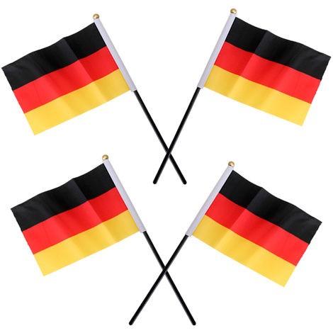 DIV 76508 - Stabflagge Deutschland - Plastikstab 16 x 10 cm 4-er