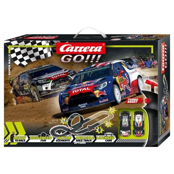 Stadlbauer 20062495 - Carrera - Go!!! - Super Rally Rennstrecke, 4,9 Meter inkl. 2 Fahrzeugen