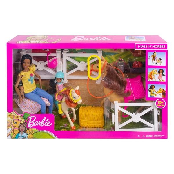 Mattel FXH16 - Barbie - Spielset, Puppen und Pferde, Reitspaß