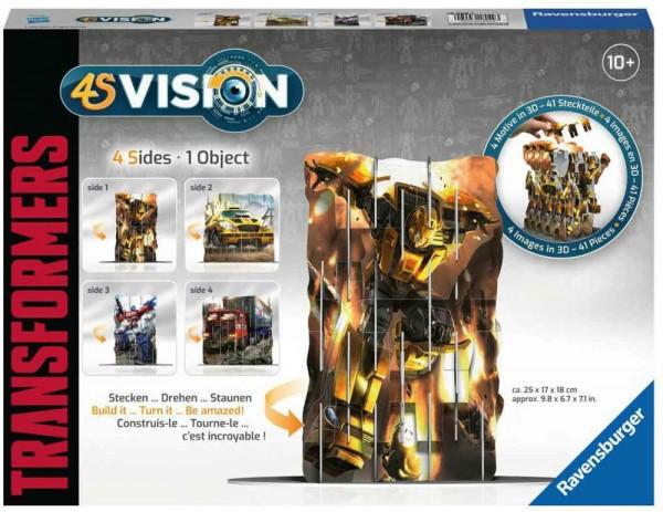 Ravensburger 18049 - 4S Vision - Transformers - 3D Steck-Puzzle mit 4er Motiv-Ansicht
