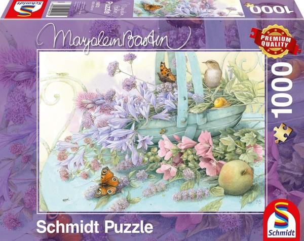 Schmidt 59572 - Premium Quality - Marjolein Bastin - Blumenkorb, 1000 Teile Puzzle