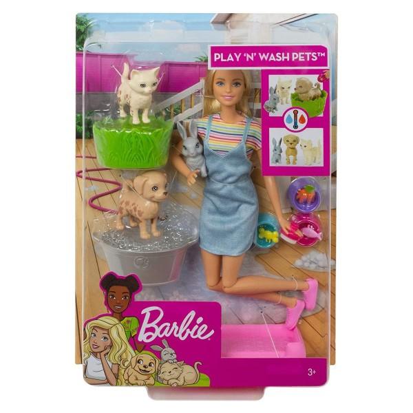 Mattel FXH11 - Barbie - Badespaß, Tiere mit Zubehör