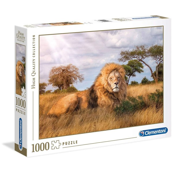 Clementoni 39479 - High Quality Collection - Puzzle, The King, Löwe in Savanne - 1000 Teile