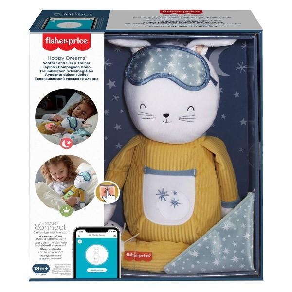 Mattel GMN58 - Fisher-Price - Traumhäschen Schlafbegleiter mit Licht und Sound, plüsch