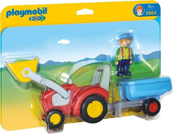 PLAYMOBIL® 6964 - 1•2•3 - Traktor mit Anhänger
