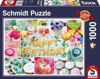 Schmidt 58379 - Premium Quality - Happy Birthday, 1000 Teile Puzzle