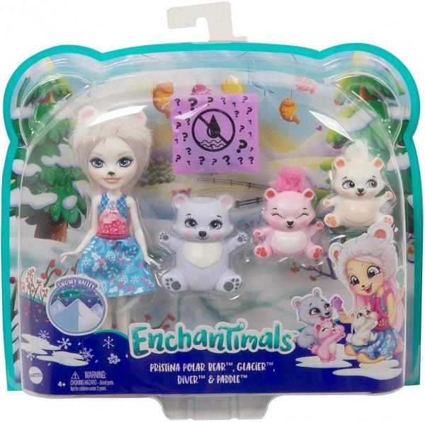 Mattel GJX47 - Enchantimals - Puppe mit Tierfiguren