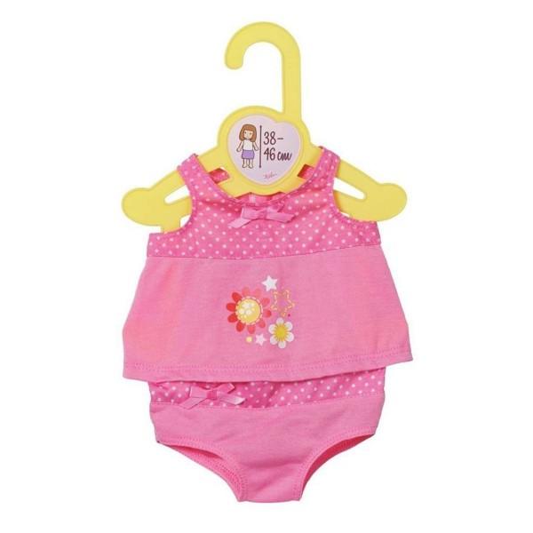Zapf 870235-ROSA - Dolly Moda - Unterwäsche rosa, Gr. 38-46cm