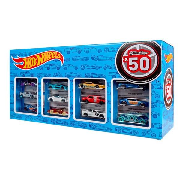 Mattel CGN22 - Hot Wheels - Die-Cast Fahrzeuge, Geschenkset je 50 Spielzeugautos, zufällige Auswahl