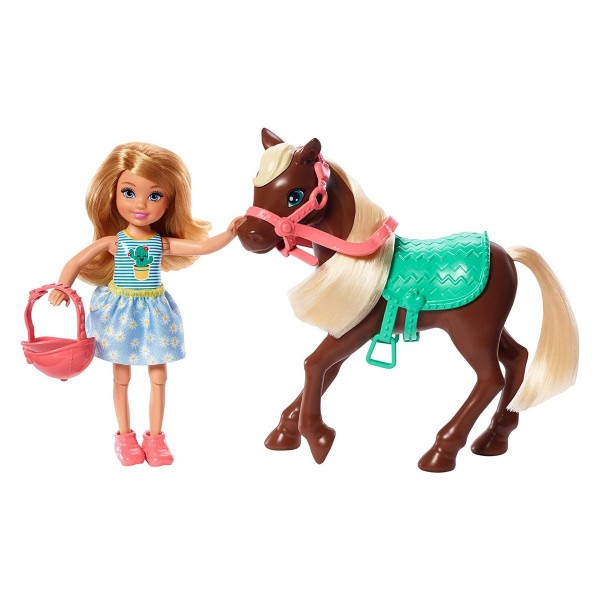 Mattel GHV78 - Barbie - Chelsea Club - Puppe mit Pony