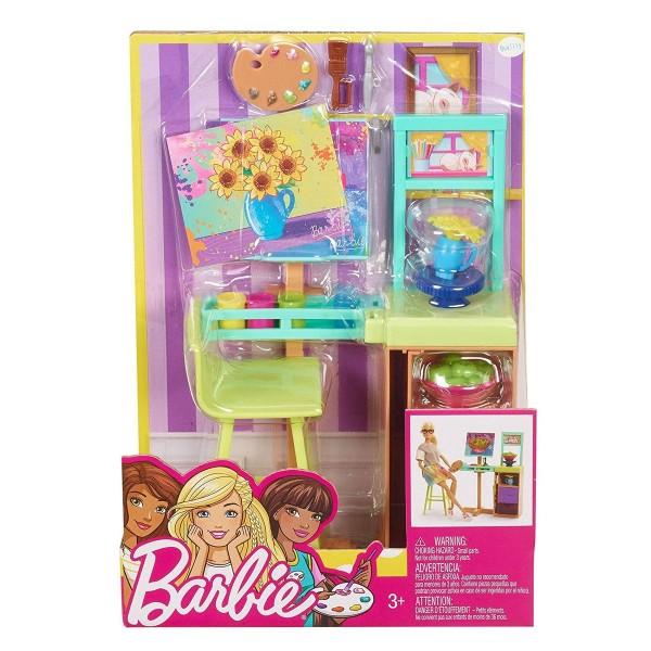 Mattel FJB26 - Barbie - Berufe Spielset Kunstatelier