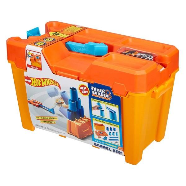 Mattel GCF91 - Hot Wheels - Track Builder System - Fässer-Stunt Box mit einem Fahrzeug