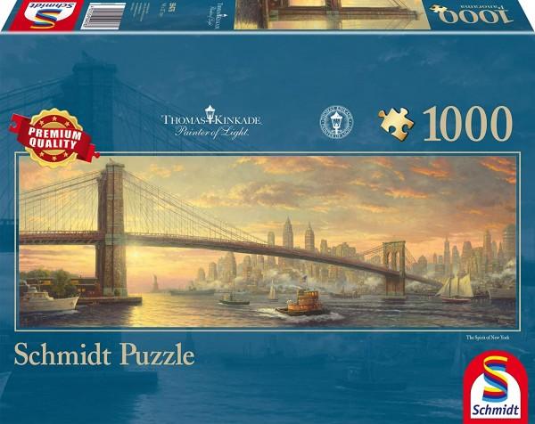 Schmidt 59476 - Premium Quality - Thomas Kinkade - Brooklyn Bridge, New York, 1000 Teile Puzzle