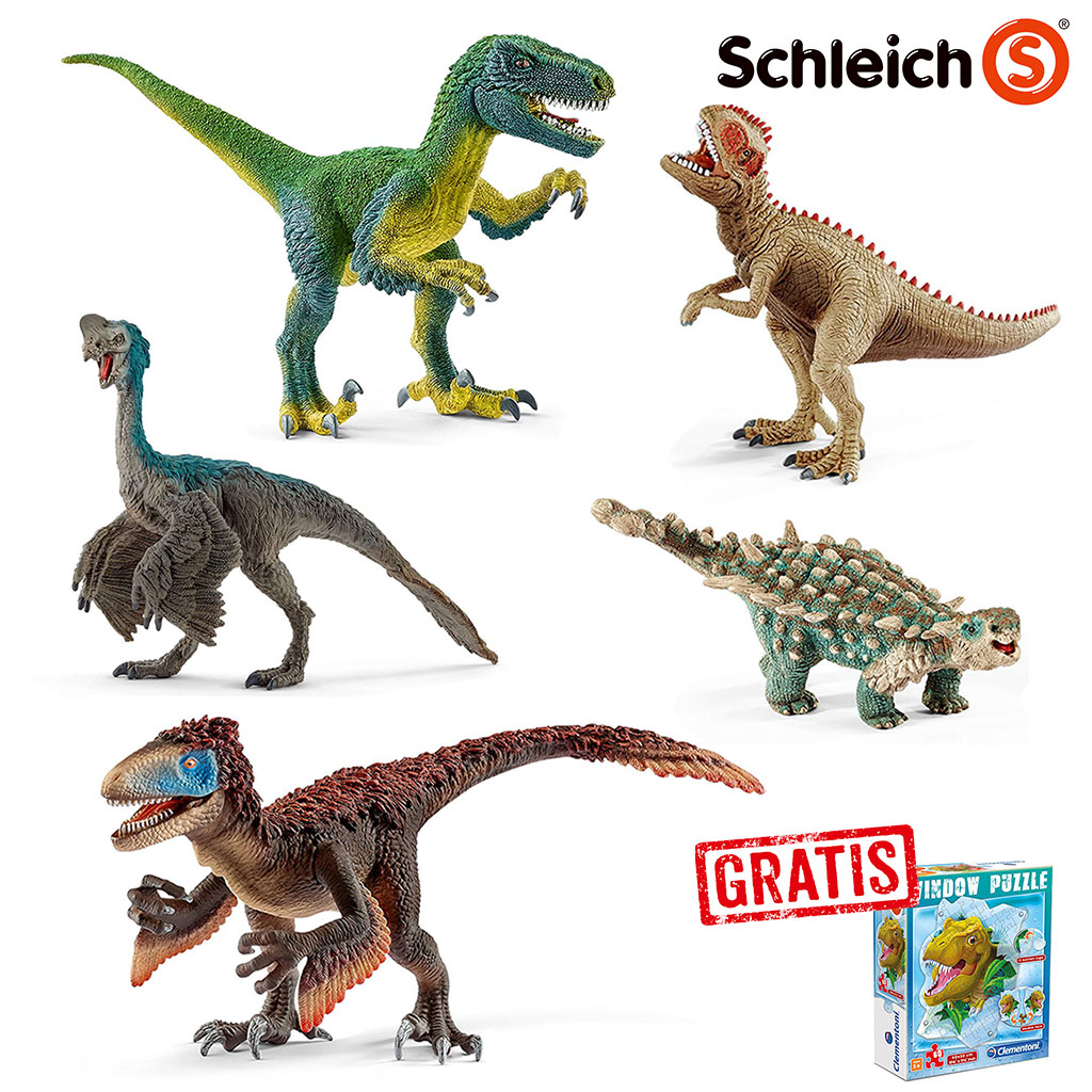 Spar Set 169753 Schleich Dinosaurs 5 Dinosaurier Gratis Dino Fenster Puzzle