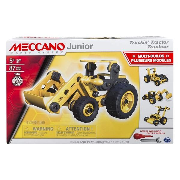 Spin Master 6027019 (20071412) - Meccano - Junior Bausatz, Multi Builders, Truckin Traktor