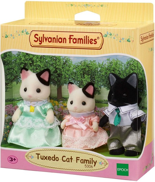 Epoch 5306 - Sylvanian Families - Tuxedo Katzen Familie