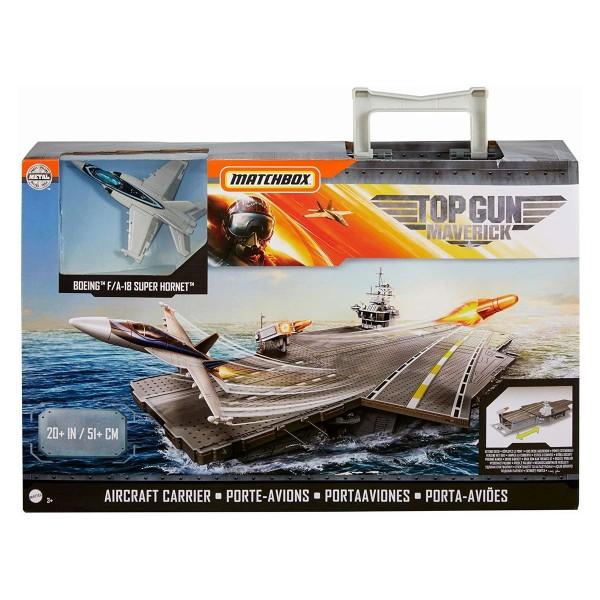Mattel GNN28 - Matchbox - Top Gun Maverick - Spielset, Flugzeugträger