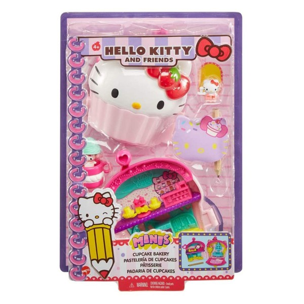 Mattel GVB30 - Hello Kitty - Mini-Spielset in Schatulle, Cupcake