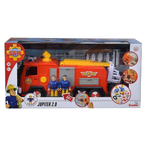 Simba 109251036 - Feuerwehrmann Sam - Jupiter 2.0 mit Licht & Sound-Effekten