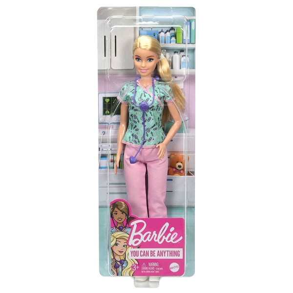 Mattel GTW39 - Barbie - You can be anything - Karriere-Puppe, Krankenschwester