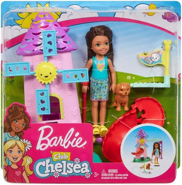 Mattel FRL85 2.Wahl - Barbie - Chelsea Puppe und Mini-Golf Spielset