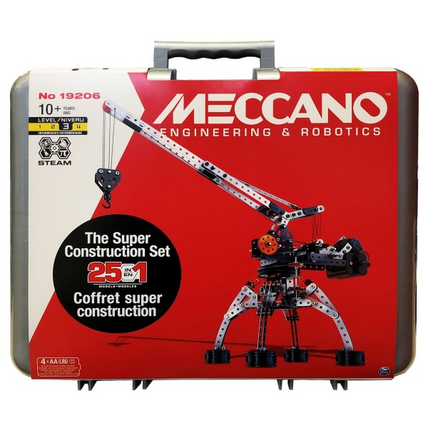 Spin Master 6055038 (20120854) - Meccano - Konstruktionsset 25 in 1, 638 Teile