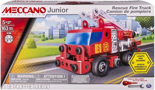 Spin Master 6028420 (20074036) - Meccano Junior - Bausatz, Feuerwehrauto