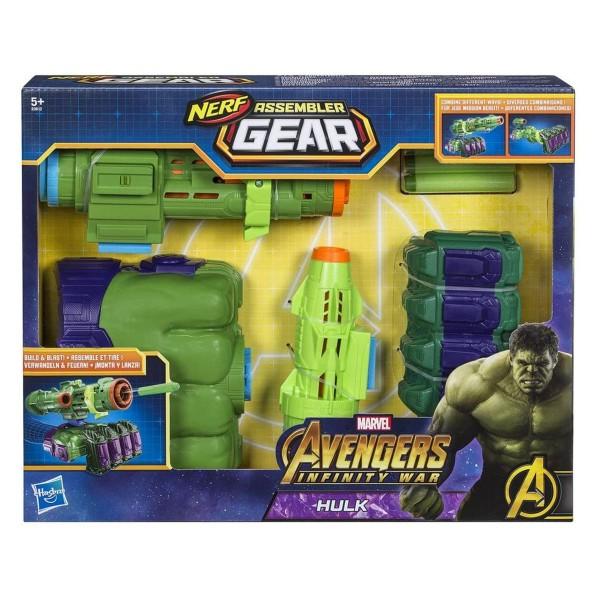 Hasbro E0612EU4 - Nerf - Marvel - Avengers Infinity War - Assembler Gear, Hulk Spielzeugblaster