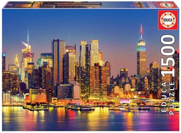 DIV 18466 2.Wahl - Educa - Manhattan bei Nacht Puzzle, 1500 Teile