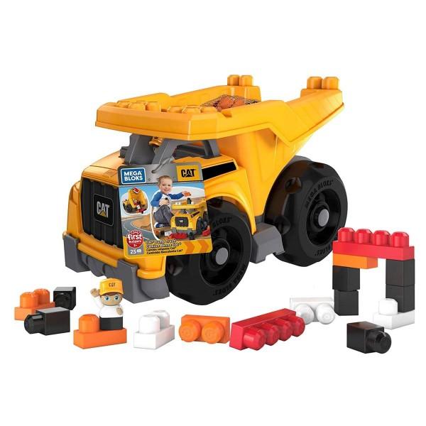 Mattel DCJ86 - Mega Bloks - CAT - Großer Kipplaster mit Bausteinen