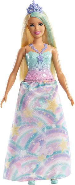Mattel FXT14 - Barbie - Dreamtopia - Puppe mit Regenbogen Outfit, Prinzessin