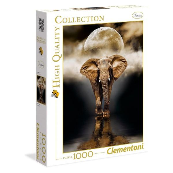 Clementoni 39416 - High Quality Collection - Der Elefant Puzzle, 1000 Teile