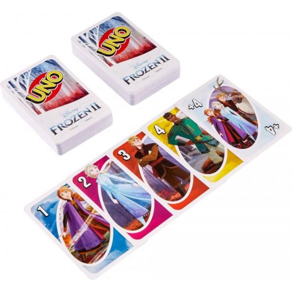 Mattel GKD76 - Uno - Disney - Frozen II - Kartenspiel mit 112 Karten, Die Eiskönigin 2