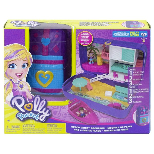 Mattel FRY40 - Polly Pocket - Spielset, Stand Rucksack
