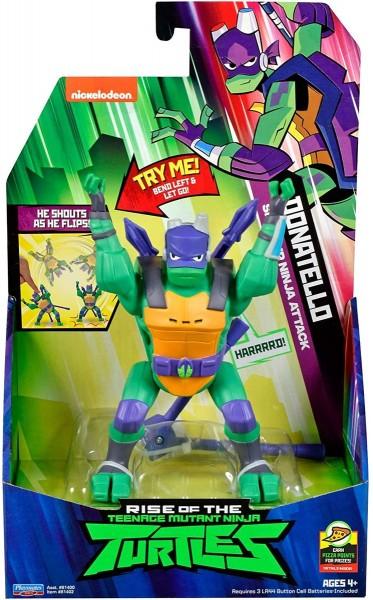 Jazwares OMM0979 (81402) - Teenage Mutant Ninja Turtles - Spielfigur, 14 cm, Sideflip Attack, Donate