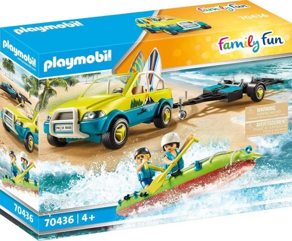 PLAYMOBIL® 70436 - Family Fun - Strandauto mit Kanuanhänger