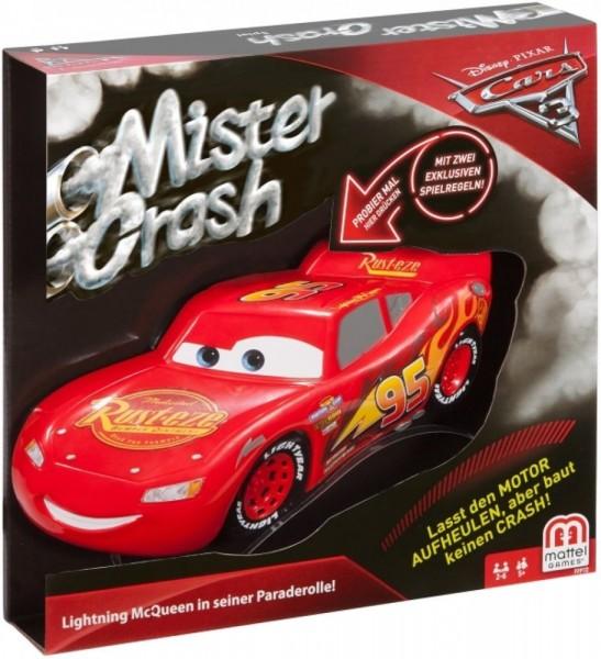 Mattel FFP69 - Disney Cars - Mister Crash, elektronisches Kartenspiel