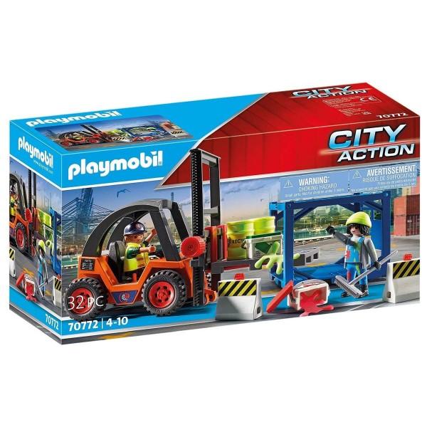PLAYMOBIL® 70772 - City Action - Gabelstapler mit Fracht