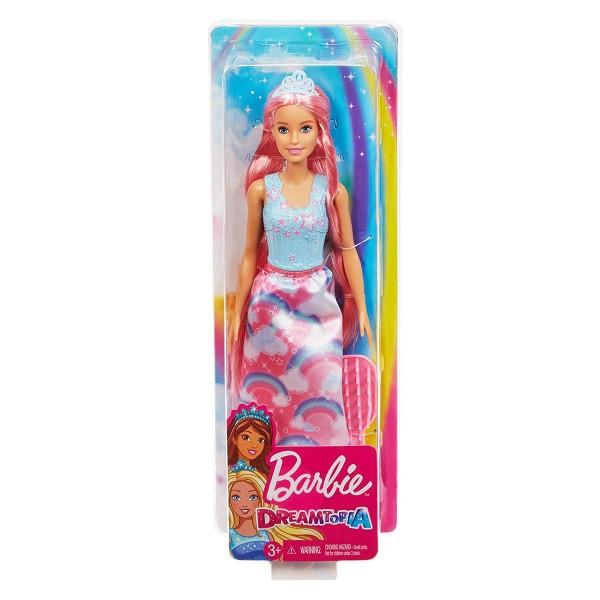 Mattel FXR94 - Barbie - Dreamtopia - Puppe mit Bürste, Zauberhaar Königreich, Prinzessin