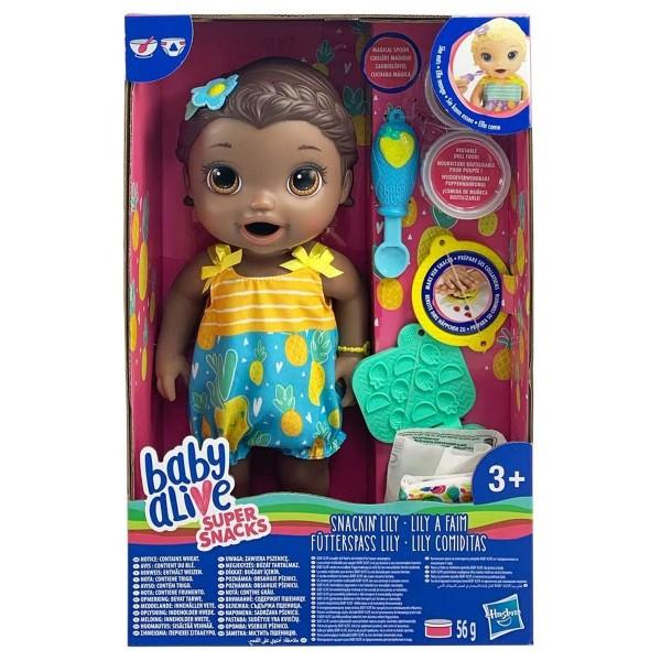 Hasbro E5839EU4 - Baby Alive - Fütterspaß Puppe Lily inkl. Zubehör, 30 cm