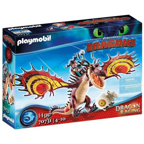 PLAYMOBIL® 70731 - DreamWorks Dragons - Dragon Racing - Rotzbakke und Hakenzahn