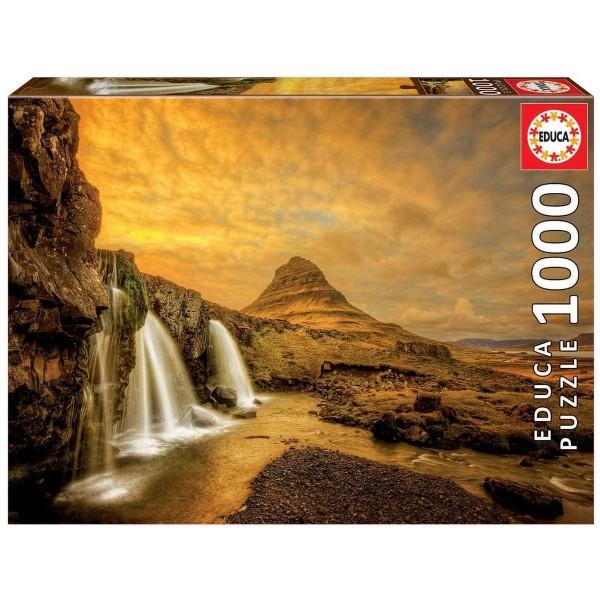 DIV 17971 2.Wahl - Educa - Wasserfall Kirkjufellsfoss Island Puzzle, 1000 Teile