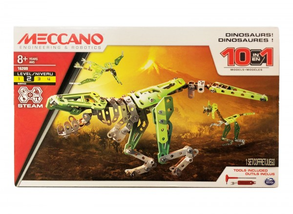 Spin Master 6026717 (20071472) 2.Wahl - Meccano - Dinosaurier 10 Modelle