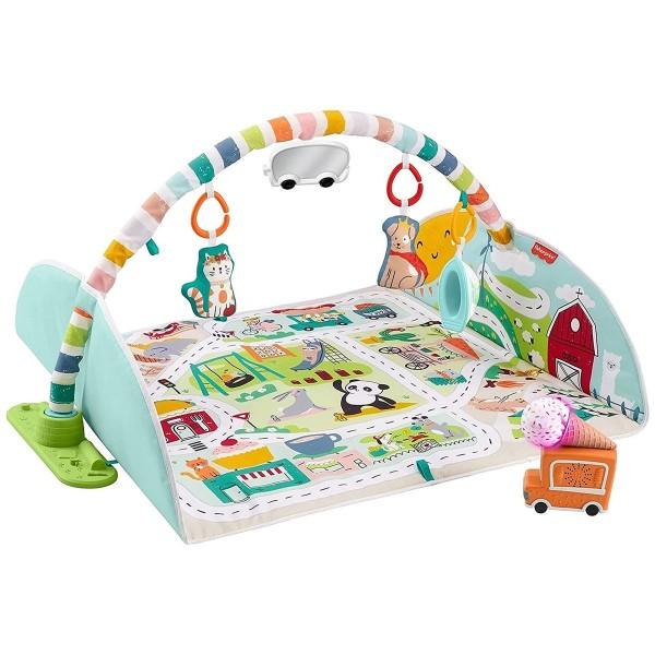 Mattel GJD41 - Fisher-Price - Jumbo Abenteuer Spieldecke mit Spielzeug