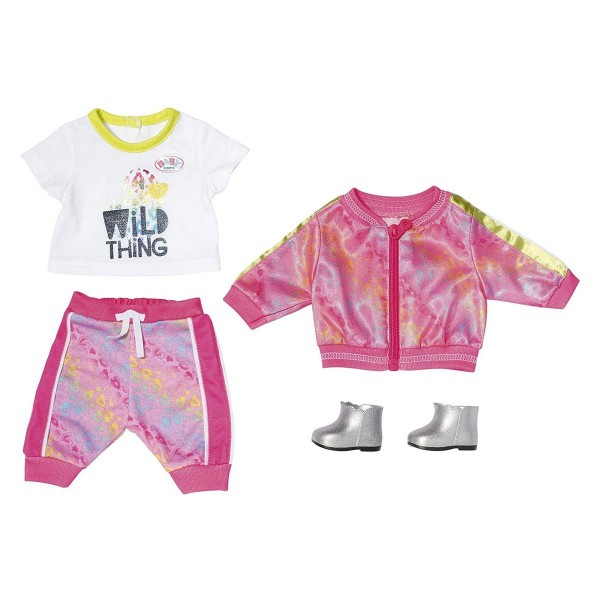Zapf 828335 - BABY born - Deluxe Outfit, Trendy Pink Set, 43 cm