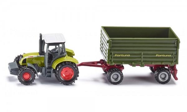2460-1-siku-1634-traktor-mit-2-achs-anhaenger
