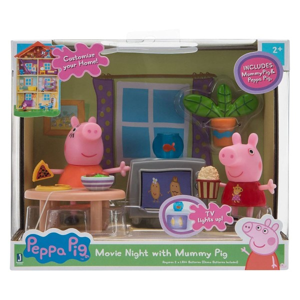 Jazwares 97002 - Peppa Pig - Filmabend mit Peppa und Mama Wutz