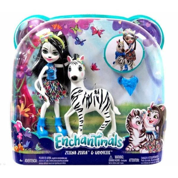 Mattel FKY75 - Enchantimals - Puppe mit Zebra, Zelena und Hoofette