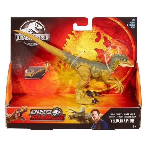 Mattel GFG66 - Jurassic World - Dino Rivals - Spielfigur, Savage Strike, Velociraptor
