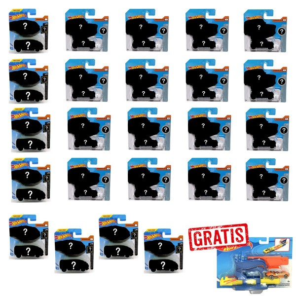 SPAR-SET 176899 sort. - Mattel - Hot Wheels - 24 Autos (5785), 1:64
